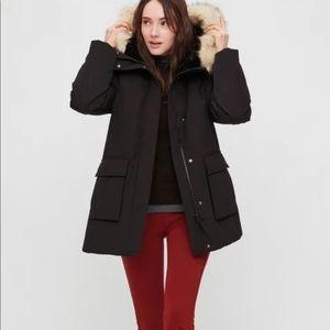 Ultra Warm Down Coat by Uniqlo in Black